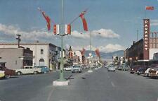 Photo. 1956-8. Kelowna, BC Canada. Bernard Ave - autos