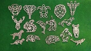 Wooden MDF Geometric Animal shapes craft Shapes 1 x 100 mm