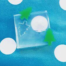 Molde De Silicona Pendiente-Árbol de Navidad Festivo molde de resina artesanal Aretes