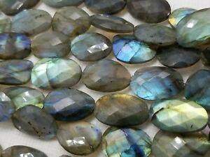 Labradorite natural rustic faceted oval beads 6-8 mm  handcut gemstone Beads  Blue Orange Green Labradorite