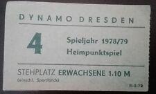Ticket 1978/79 Dynamo Dresden 1.FC Lok Leipzig DDR Oberliga Eintrittskarte LOK