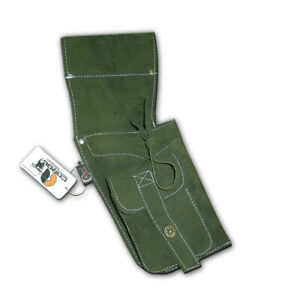 Green R//H Carol Traditional Side//Hip//Belt//Waist Suede Leather Arrow Quiver AQ142S
