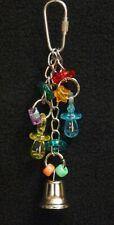 New listing Pacifier Parrot Bird Toy - Cockatiel Parakeet Parrotlet Lovebird, Beads Rings