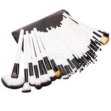 36pcs Professional White Full Set Cosmetic Brush Makeup Brushes with Case Bag US