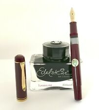 Pelikan M250 Burgundy Fountain Pen Semi Flex 14ct Nib OB