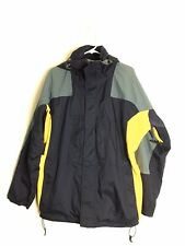 Burton AK GORE-TEX Zip Up Jacket Windbreaker Navy Blue Yellow Men Sz Large