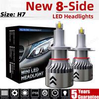 2X Mini 180W 28800LM H7 LED Ampoule Voiture Feux Phare Lampe Remplacer HID Xénon