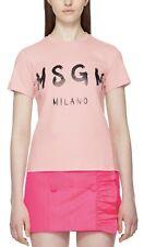 msgm Logo Milano Cotton T Shirt Pink XS