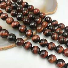 """Red Tiger Eye Large Smooth Round Beads 16mm 18mm 15.5"""" Strand"""