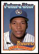 New listing 1989 Topps RC #343 Gary Sheffield Rookie Milwaukee Brewers