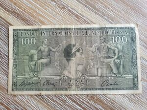 Luxembourg 100 francs 1956 banknote
