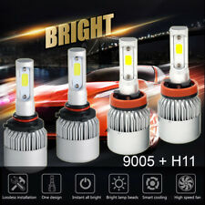 4 Bulbs Kit 3000W 450000LM 9005 H11 6000K Combo CREE LED Headlight High Low Beam