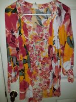 FIG & FLOWER Anthropologie 1X PEASANT Blouse Boho TOP Tunic Plus Rayon