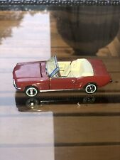 Franklin Mint 1965 Ford Mustang Convertible, Red, 1/43 Die Cast Car �Exellent�