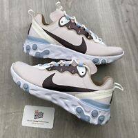 NIKE REACT ELEMENT 55 BLUE WHITE PURPLE UK 6.5 EU 40.5 US 9- CN3591 600