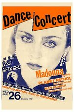 EARLY: Madonna at The Red Parrot in New York City Concert Poster 1983