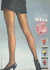 ▬► PUBLICITE ADVERTISING AD WEIL  Bas et collant (c)