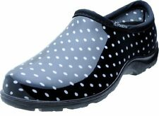 Sloggers 5113BP09 Rain and Garden Shoe,Wo's Size9, Black/White Polka Dot Print