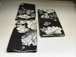 3 Pottery Barn Lydia Floral Flower Print Cotton Shams/2 standard 1 Euro NWOT