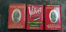 Vintage Lot of 3 Tin Advertising Items, Tobacco, Prince Albert Velvet
