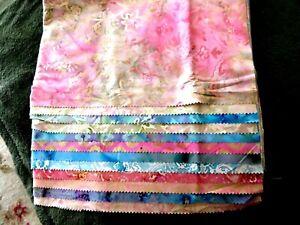 12 batik fat quarters  - assorted colors