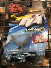 2007 HOT WHEELS SPEED RACER GRAY GHOST RACE CAR WITH SAW BLADES