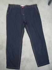 Next size 18 Long linen blend straight leg trousers ex condition