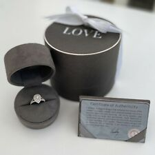 Vera Wang 18ct White Gold 0.95ct Total Diamond Ring Engagement Ring Size K