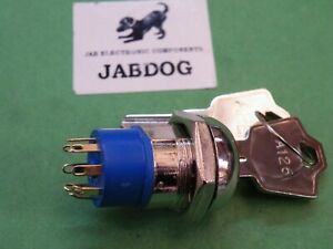 Apem Hi-Quality Key Lock Switch 3 Position 2x Keys No 126 Common 45g CB31