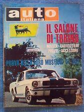 AUTO ITALIANA - novembre 1966 - FORD MUSTANG GT 350