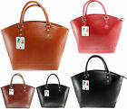 bag borsa grande classica da donna elegante vera pelle made in italy nuova 9027