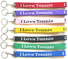 I Love Tennis Lanyard Keychain Many Color Options - New