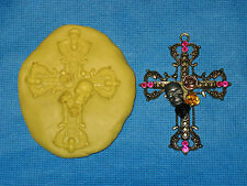 Large Cross & Skull Push Mold Candy Food Safe Silicone #193 Cake Cup Cake Wax
