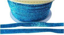Aqua Blue Metallic Ribbon Trim Sewing Embellishments Scrapbooking Craft Supply