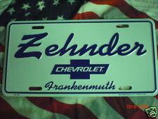 Dealership License Plate: Zehnder Chevrolet; Frankenmuth Michigan