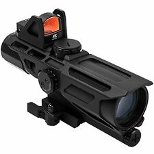 NcSTAR USS GEN3 3-9x40 Rifle Rail Quick Release Mount Scope w/ Micro Dot Sight
