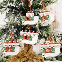 2020 Family Snow Santa Christmas Tree Hanging Pendant Xmas Ornaments Decor Gift