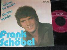 FRANK SCHÖBEL Leben zu zwein & Danke schön / DDR SP 1975 AMIGA 456197