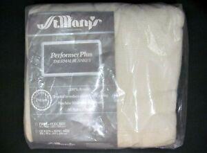 NEW Vtg Fieldcrest St Mary's Thermal Acrylic 72 x 90 Ivory Blanket TWIN FULL