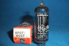 NOS/NIB GE 6FQ7/6CG7 PREAMP TUBE SILVER SHIELD LADDER PLTS SIDE GTR 1962  TESTED