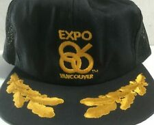 Vintage Vancouver Expo 86 Gold Leaf 1986 World Exposition Hat Cap Never Worn