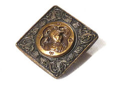 Collection bouton ancien laiton chevalier en armure style renaissance 1850/1900