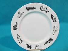 "8 1/4"" Alison Moore Ceramics Bone China Collector Plate Vintage Shoes England"