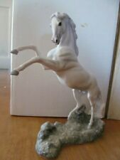 "Franklin Mint Artist Pamela du Boulay Porcelain Horse ""Silver"""
