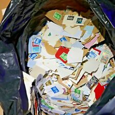 10.55Kg UNSORTED Surplus Charity KILOWARE Stamps, On/Off Paper