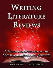 Writing Literature Reviews-6th Ed : A Guide for Students of the Social and...