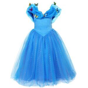 ELSA & ANNA® Girls Fancy Dress Snow Queen Princess Dress Halloween Costume CNDR4