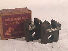Vintage Pair Armstrong Bros. Pipe Die Threading Head 1/2 R-NPT