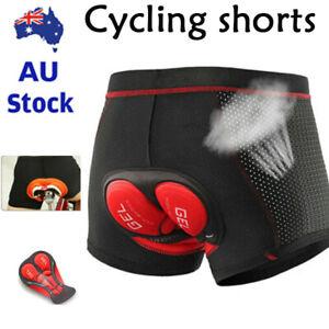 5D Gel Padded Cycling Underwear MTB Mountain Bike Shorts Biking Sponge Pants AU