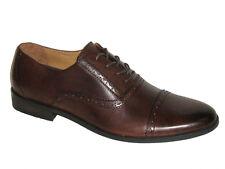Original Penguin Men's Shoes - OP Cap Toe Leather Dress Shoe - Brown Size 9 New